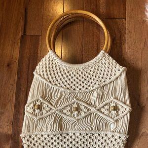Vintage macrame purse
